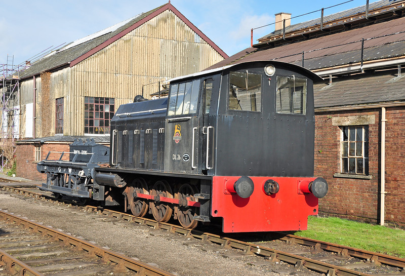 Built in 1958 by Hunslet no2662 DL26 is seen at the Didcot railway centre.