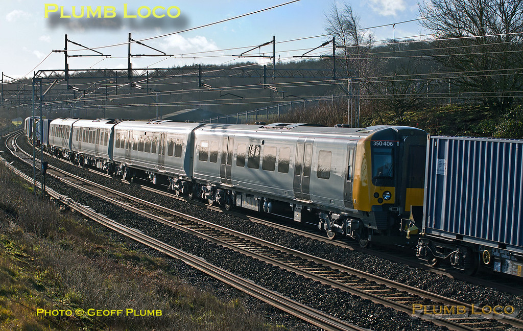 350 406, 350 407, Old Linslade, 6X50, 1st February 2014