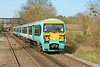 Former Southern 456008 is seen at Bagshot 01/04/2014 with 2N43 the 15:59 service to Guildford. These units are now in use with SWT & will be fully refurbished at Wolverton works. The first is due back the middle of April.