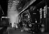 The ghostly figures of railway workers past, ensure Sir Nigel is ready for the morning.<br /> I hope this image goes some way to portray the hard & dedicated work in less than ideal conditions, that went on in thousands of steam sheds across the UK.