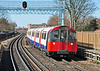 Piccadilly Line 1973 stock seen passing Ravenscourt Park heading for Cockfosters 16/03/2014.