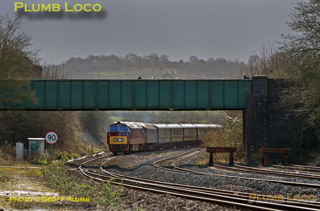 "D1015 ""Western Champion"" & 47773, Princes Risborough, 1Z52, 9th February 2014"