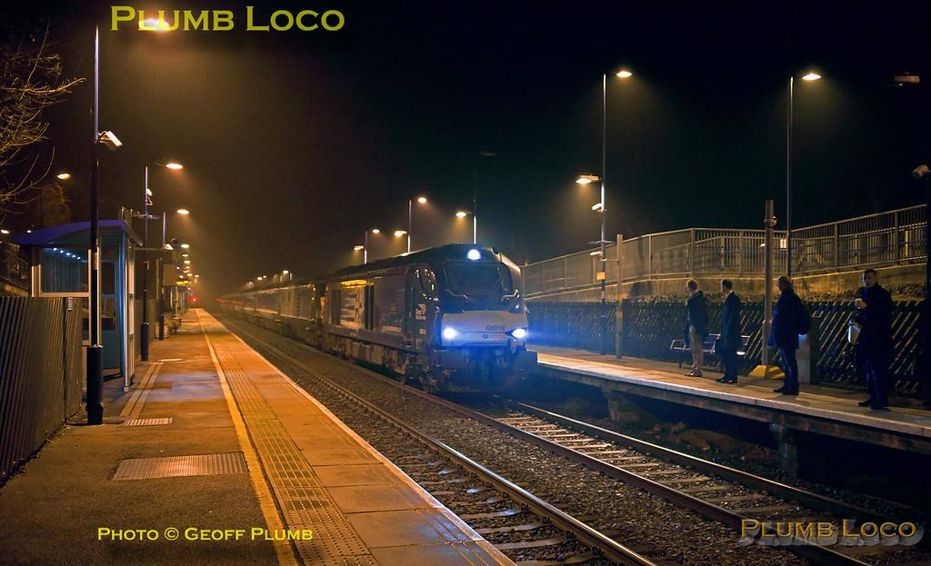 68018, Haddenham Station, 1H06, 10th February 2017
