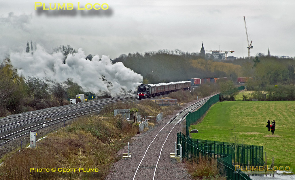 70013, Port Meadow, Oxford, 1Z50, 10th February 2018