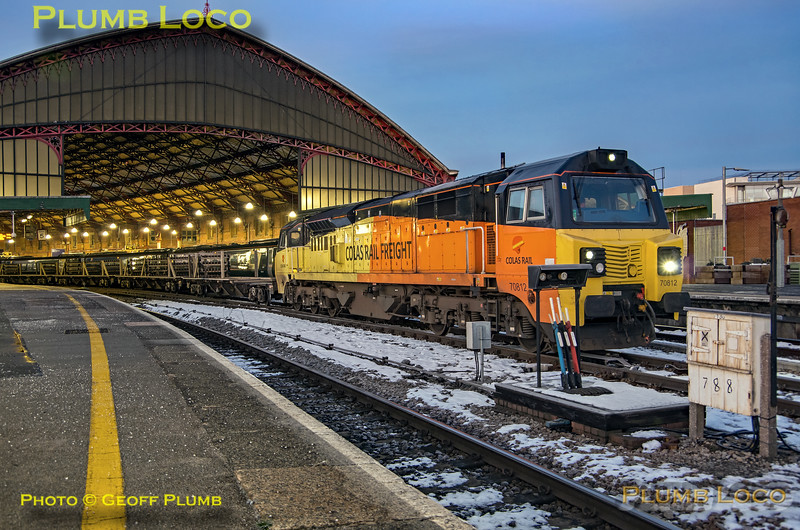 70812, Bristol Temple Meads, 6Z39, 3rd February 2019