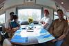Passengers in dining car 1409. Fisheye view 2009 June 26