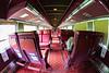 Coach interior. Ex VIA. 2009 June 26 fisheye view. Possibly 855