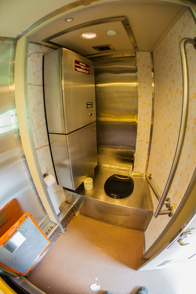 New washroom in coach 2009 June 26