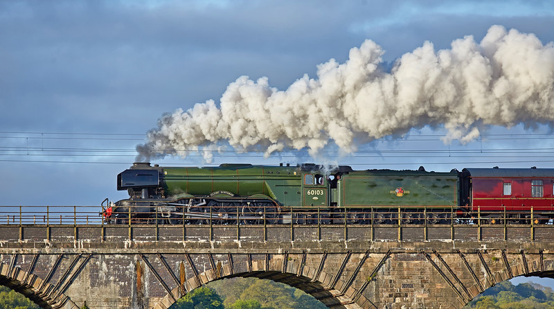 Flying Scotsman (60103) approaching Linlithgow - 17 May 2016