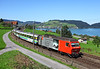 095 on a Luzern to Romanshorn service seen just East of Immensee		<br /> 01/09/2010