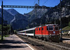 11194 stands at Kandersteg station on a morning service from Brig to Bern<br /> 26/8/2006