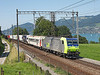 485013 on a Freiburg - Novara lorry train seen at Einigen<br /> 20/08/2011
