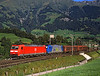 185125 + 185535 seen near Frutigen on one of the endless procession of  freight trains over the Lotchburg route into Italy <br /> 25/8/2006