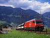 460000 seen shortly after crossing Kander viaduct  on a service for Brig<br /> 25/8/2006