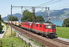 11324 + 11629 on a intermodal for Italy seen at Einigen Nr Spiez	<br /> 20/08/2011