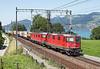 11324 + 11629 on a intermodal for Italy seen at Einigen Nr Spiez<br /> 20/08/2011