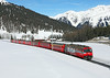 646	is seen near Davos Wolfgang with RE 1041 the 12.47hrs Landquart - Davos Platz		<br /> 02/03/2013