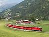 632 on the 10.45hrs Disentis - Chur seen leaving Llanz<br /> 23/08/2011