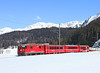 626 is seen on train 823 the 11.44hrs Klosters Dorf - Davos Platz	<br /> 28/02/2013