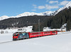 619 is seen on the 12.44hrs Klosters Dorf - Davos Platz		<br /> 28/02/2013