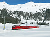 626 is seen deep in the snow as it climbs the Wolfgang pass whilst working train No 818 the 10.32hrs Davos Platz - Klosters Dorf a winter hourly ski shuttle service between the two towns.		<br /> 01/03/2013