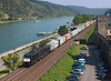 189090 heads North up the Rhine valley on a Intermodal at Oberwesel	<br /> 24/07/2012