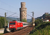 101108 heads North up the Rhine on a Express passenger service for Koblenz and beyond	 seen at Oberwesel	<br /> 24/07/2012