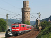 111127 heads North on a local for Koblenz seen leaving Oberwesel	<br /> 24/07/2012