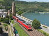 A pair of class 185s Seen on a Southbound empty Coal train at Oberwesel taken from one of the old town fortresses	<br /> 24/07/2012