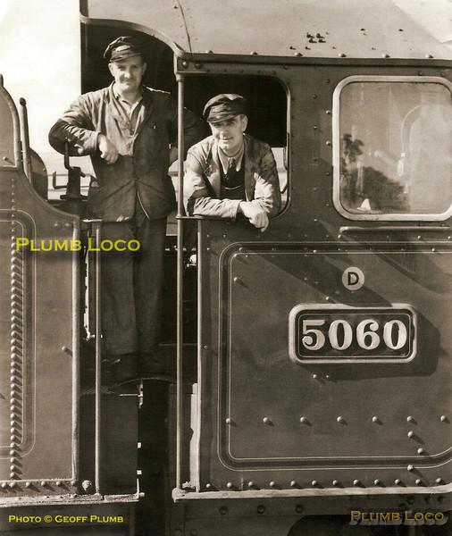"5060 ""Earl of Berkeley"", Footplate Crew, Newport"