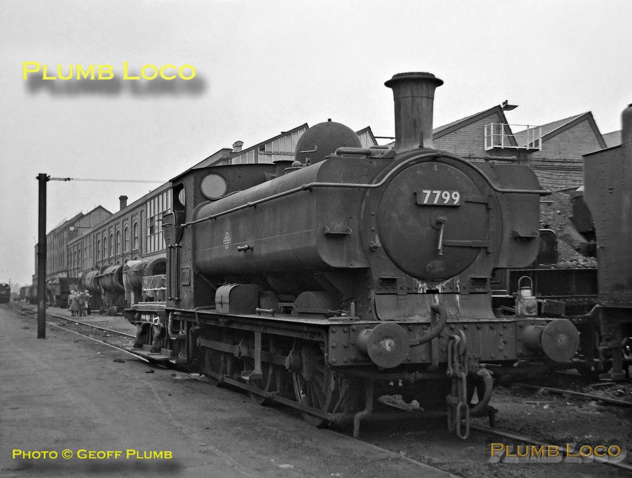 7799, Swindon Works, 23rd September 1962