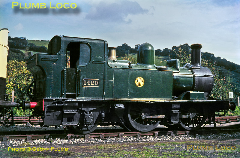 GWR No. 1420, Buckfastleigh, 7th September 1967