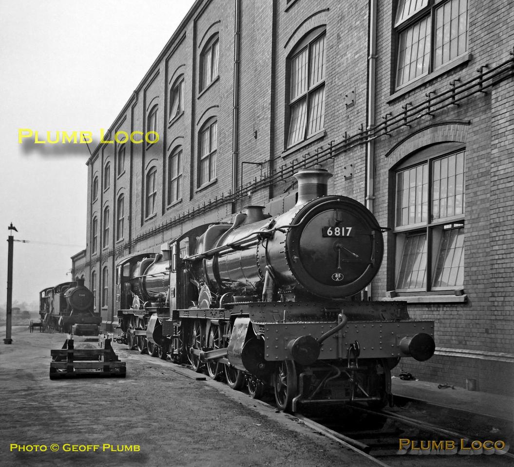 """6817 """"Gwenddwr Grange"""", Swindon Works, 23rd September 1962"""