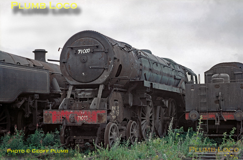 71000 at Woodham's, Barry, July 1970