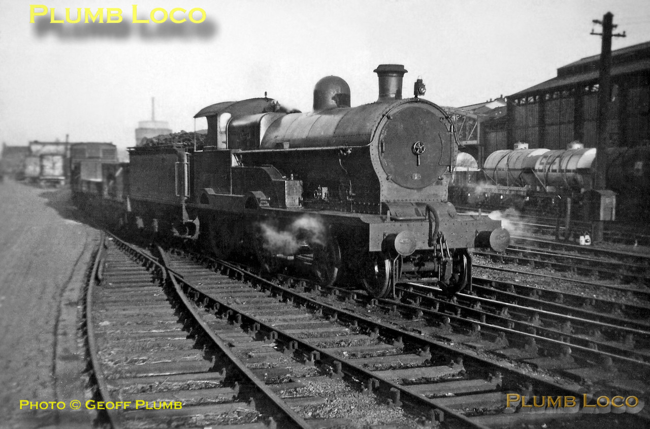 "From the Geoff Plumb Collection. Former LNWR ""George the Fifth"" 4-4-0, LMS No. 25350 ""India"" is one of the station pilots busy shunting at Chester General station at Whitsuntide 1938, during a visit by my father Derek and Uncle Ken. Photo by Ken Plumb."