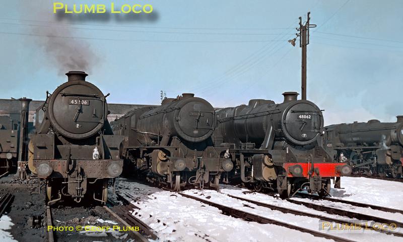 45206, 90684, 48062 & 45208, Rose Grove MPD, 30th April 1966