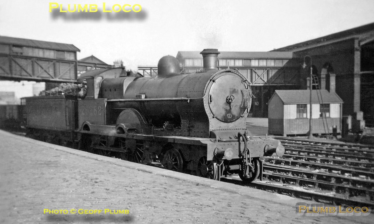 "From the Geoff Plumb Collection. Former LNWR ""Precursor"" Class 4-4-0, LMS No. 25282 ""Champion"" was one of the station pilots at Chester General station during a visit by my father Derek and his brother Ken at around Whitsun of 1938. Photo by Ken Plumb."