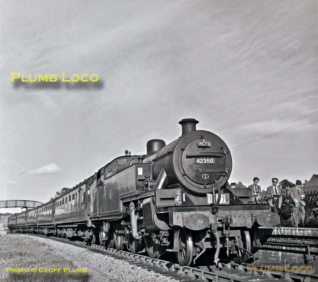 """42350, Rushden, 1X72 the RCTS """"Fernie Railtour"""", 25th August 1962"""