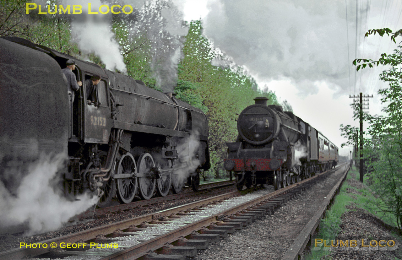 92152 & 45264, Lickey Incline, 22nd May 1964