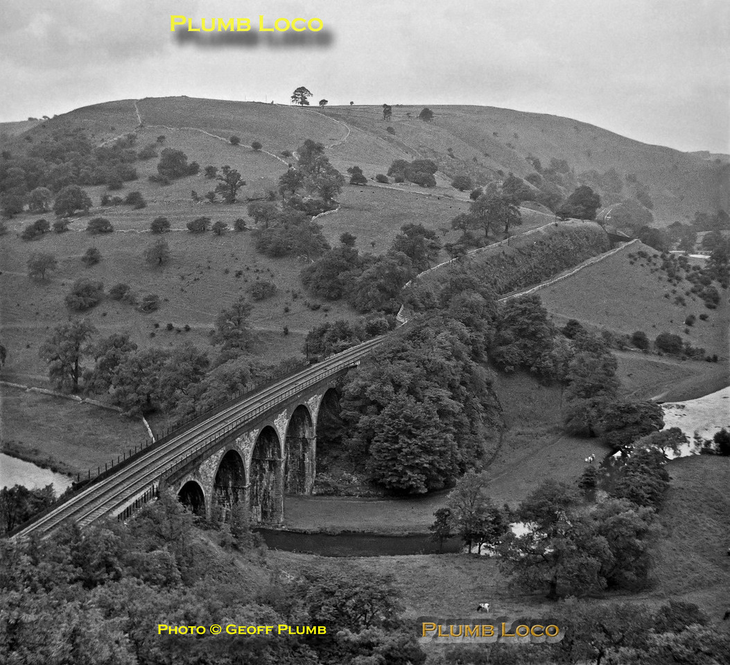 Headstone Viaduct, Monsal Dale, 15th August 1962