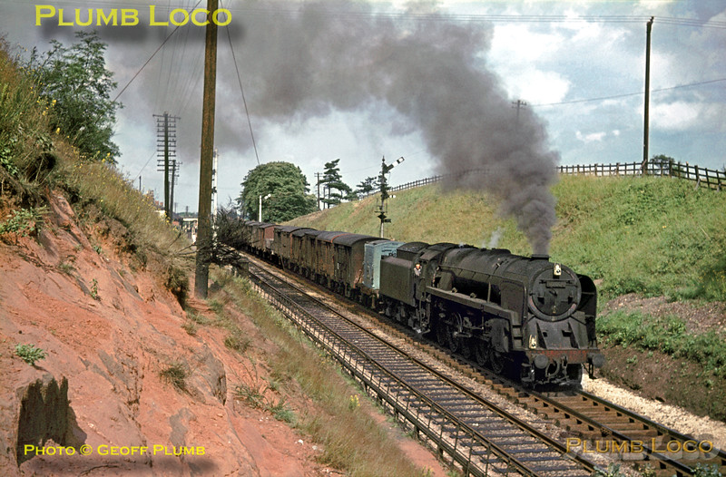 Unidentified BR 9F 2-10-0, Blackwell, 15th August 1964