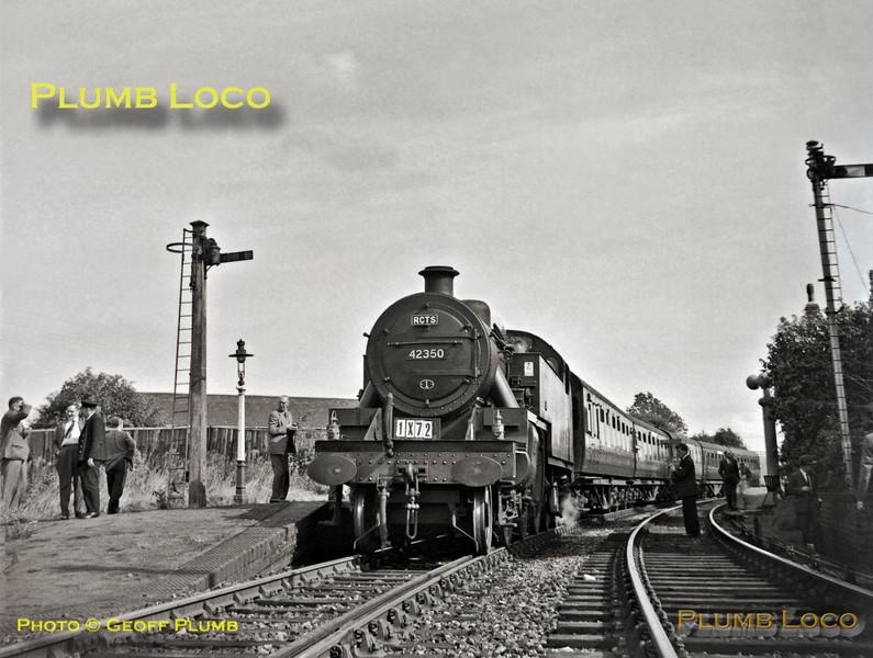 "42350, Thrapston, 1X72 the RCTS ""Fernie Railtour"", 25th August 1962"
