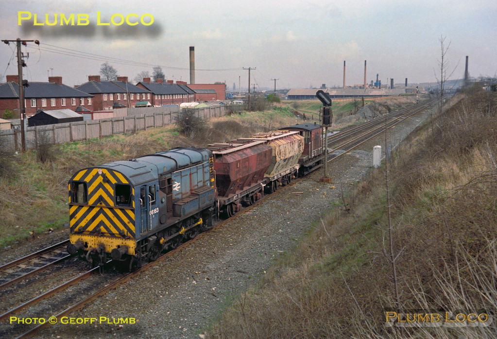 08163, Trip Working, Four Lane Ends, Castleford, March 1981