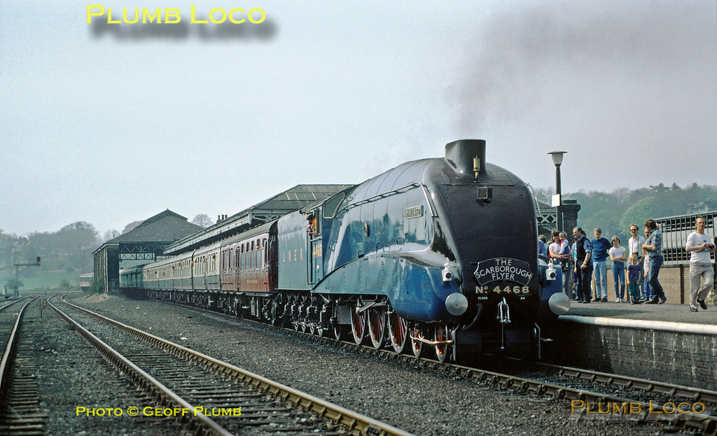 "4468 ""Mallard"", Malton Station, 26th April 1987"