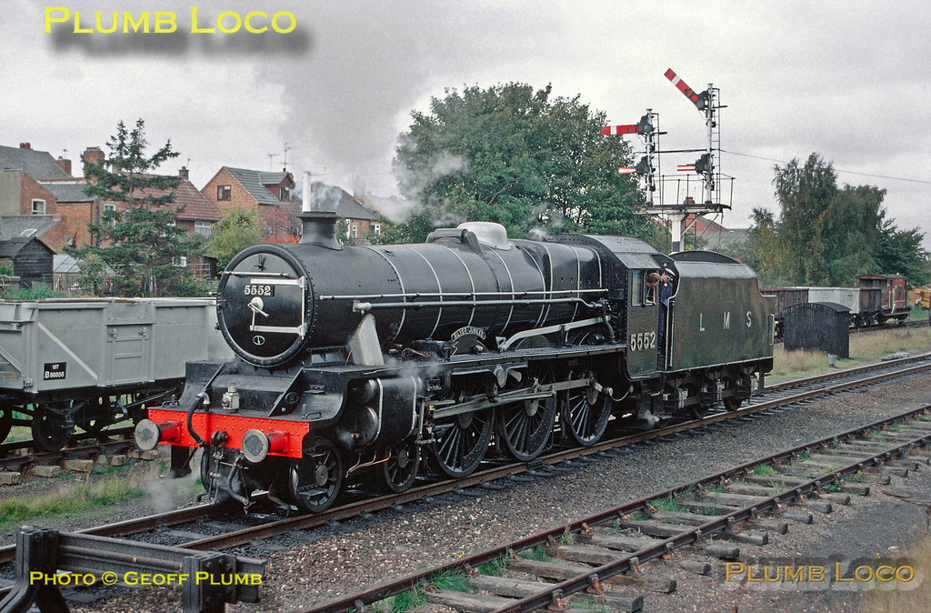 """5552 """"Silver Jubilee"""", Loughborough Central, 16th October 1994"""