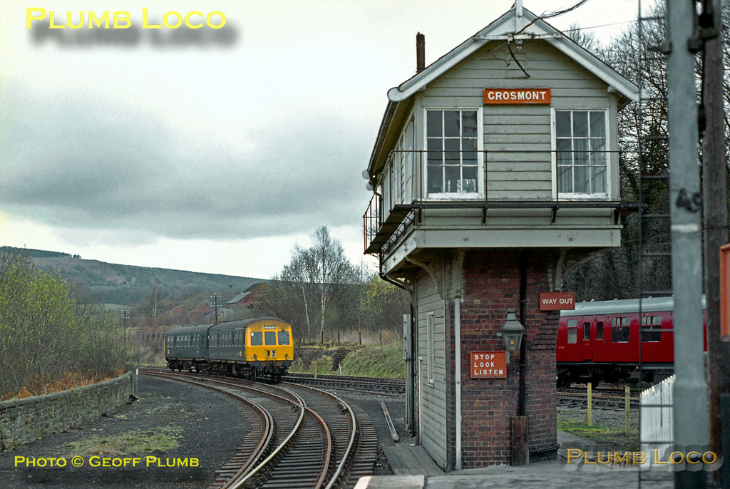 Up DMU, Grosmont, March 1973