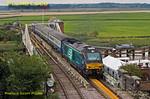 68005 & 68028, Reedham Swing Bridge, 2J73, 22nd August 2017