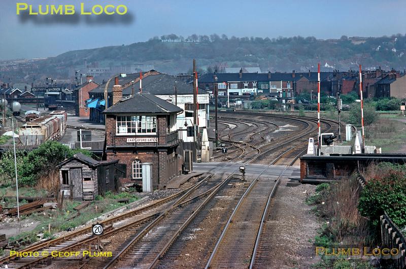 Castleford Gates Signal Box, North Eastern Railway, May 1976