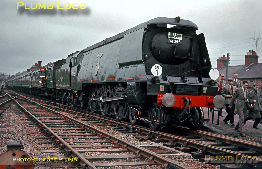 "34066 ""Spitfire"", Hailsham, 22nd March 1964"
