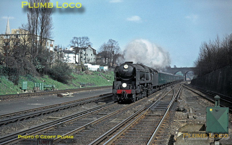 "34052 ""Lord Dowding"", Surbiton, 8th April 1964"